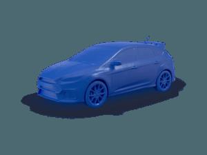 3d printer ile 3d baskı alımı ve 3d modellemesi yapılmış araç
