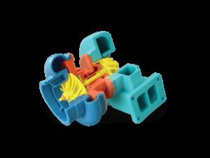 3d printer ile 3d baskı alımı ve 3d modellemesi yapılmış motor parçası