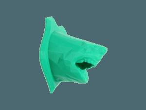 3d printer ile 3d baskı alımı ve 3d modellemesi yapılmış köpek balığı
