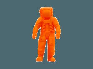 3d printer ile 3d baskı alımı ve 3d modellemesi yapılmış astronot figürü
