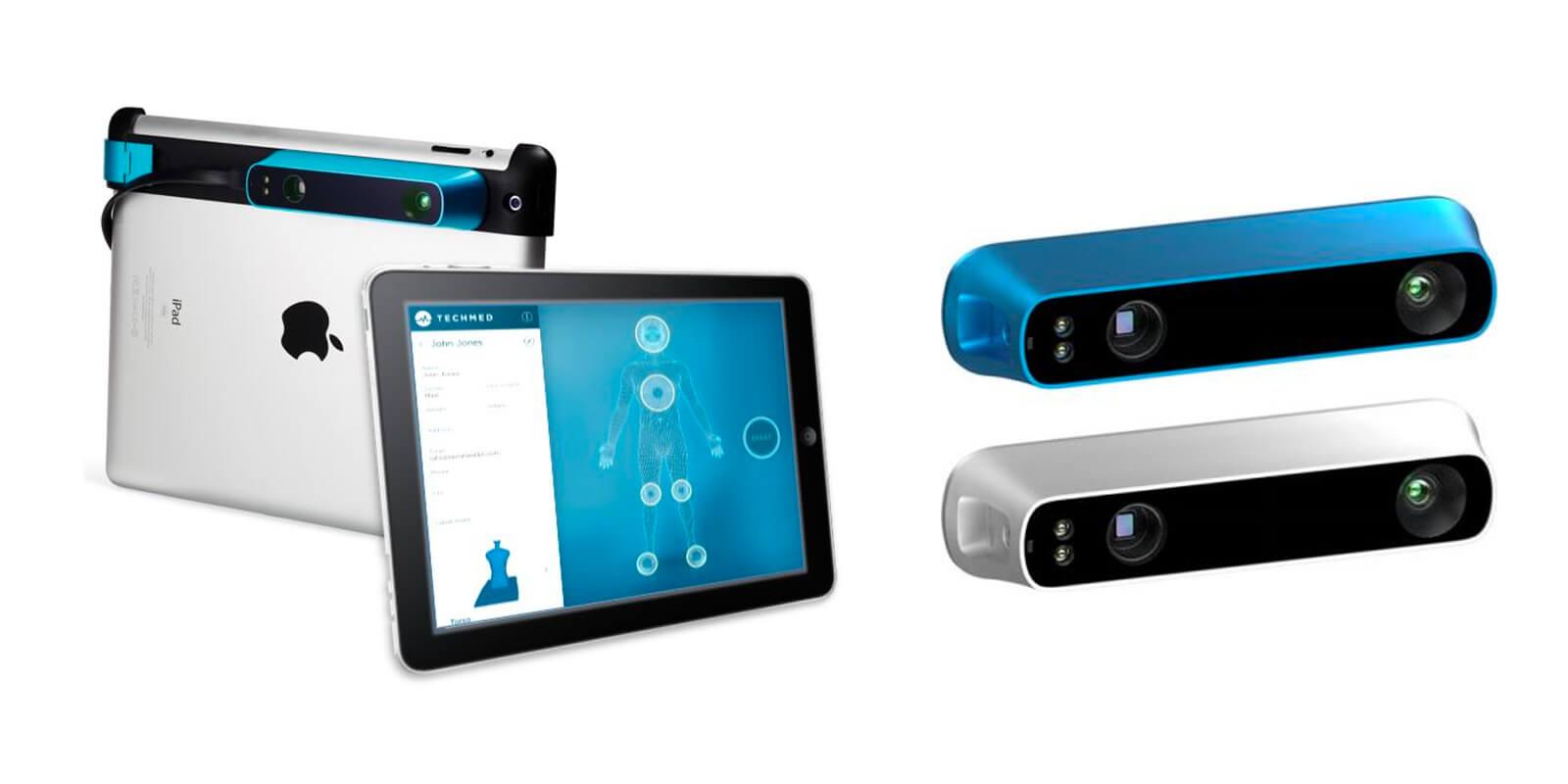 structure sensor modeli olan 3d tarayıcı, 3d baskı almadan önce kullanılıyor