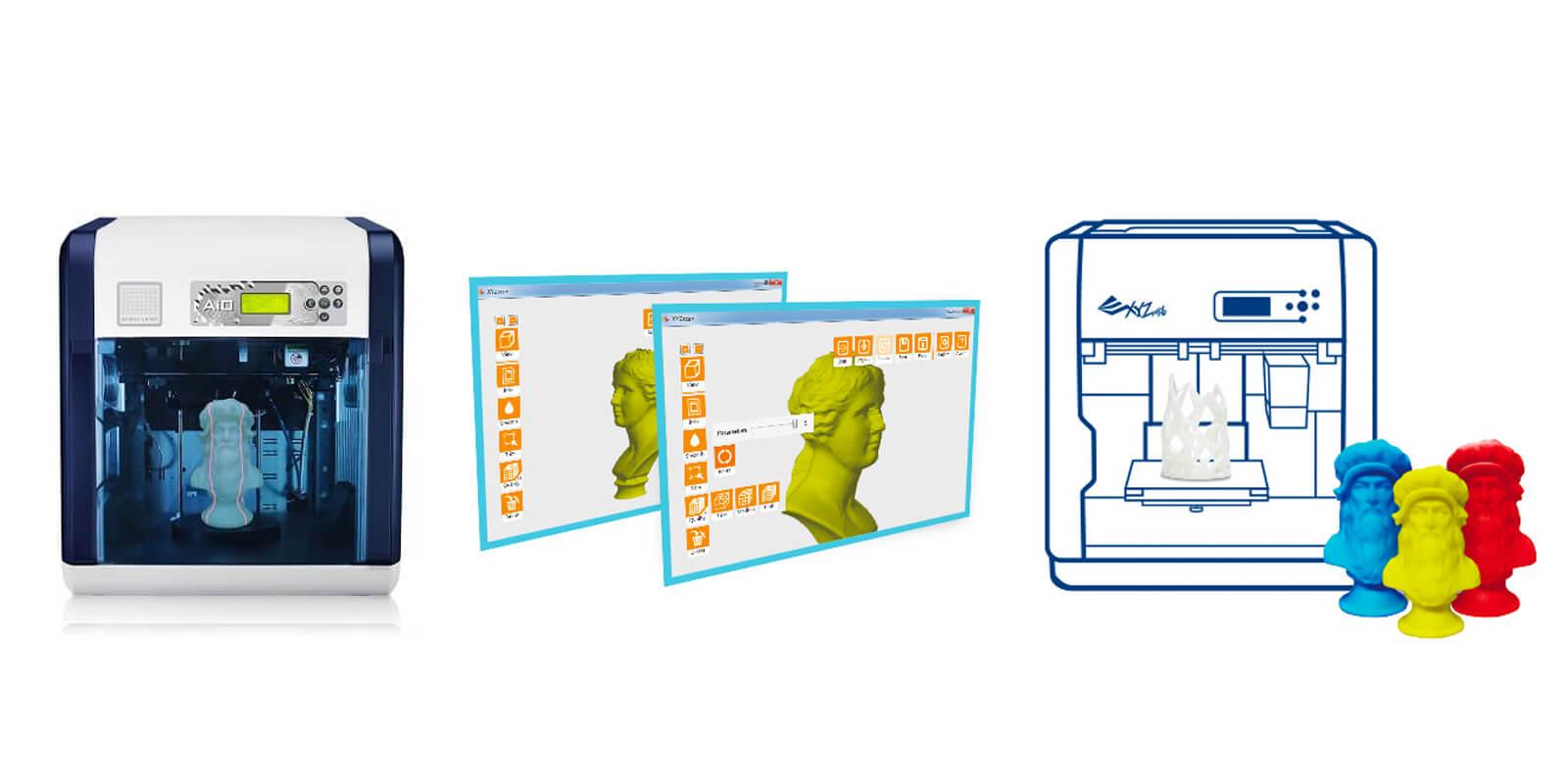 xyz printing'in ürettiği xyz aio hem 3d tarayıcı hem de 3d yazıcı olarak işleyebiliyor