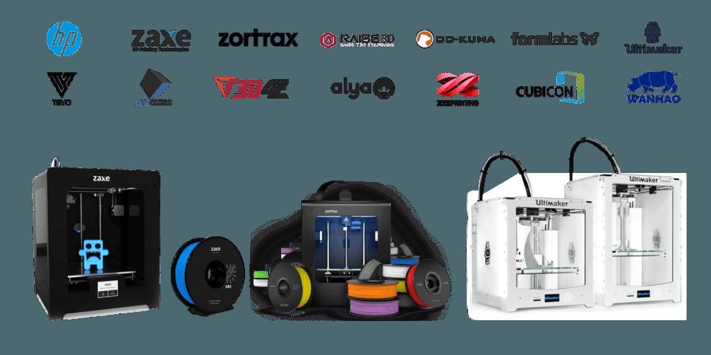 3D3 Teknoloji'nin distribütörlüğünü yaptığı 3d yazıcı, 3d tarayıcı ve filament marklaları