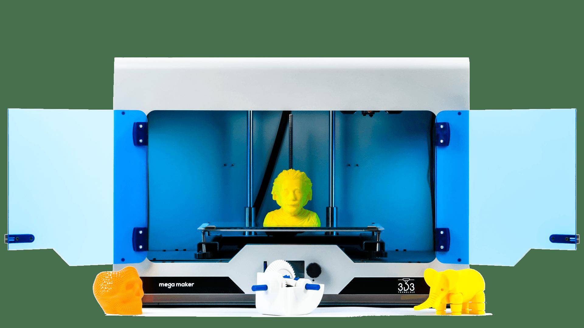 3D3 Teknoloji'nin kendi üretimi olan yerli 3d yazıcı megamaker