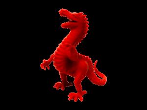 3D yazıcı kullanılarak 3d baskısı alınmış ejderha oyuncağı 2