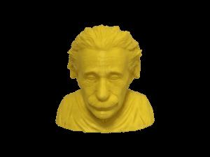 3D yazıcı kullanılarak 3d baskısı alınmış einstein büstü 4