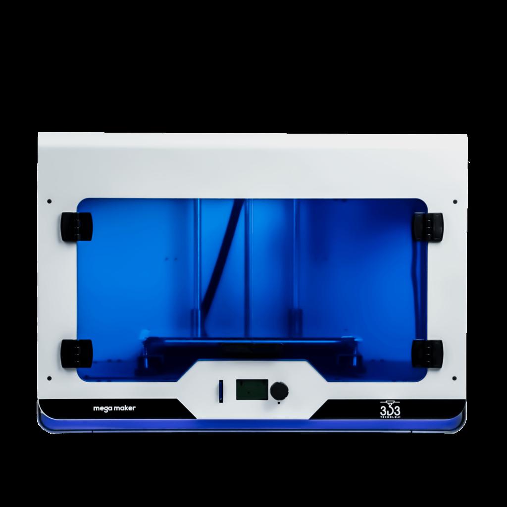 3d3 teknoloji'nin yerli üretim 3d yazıcı çözümü olan megamaker 3d printer 2