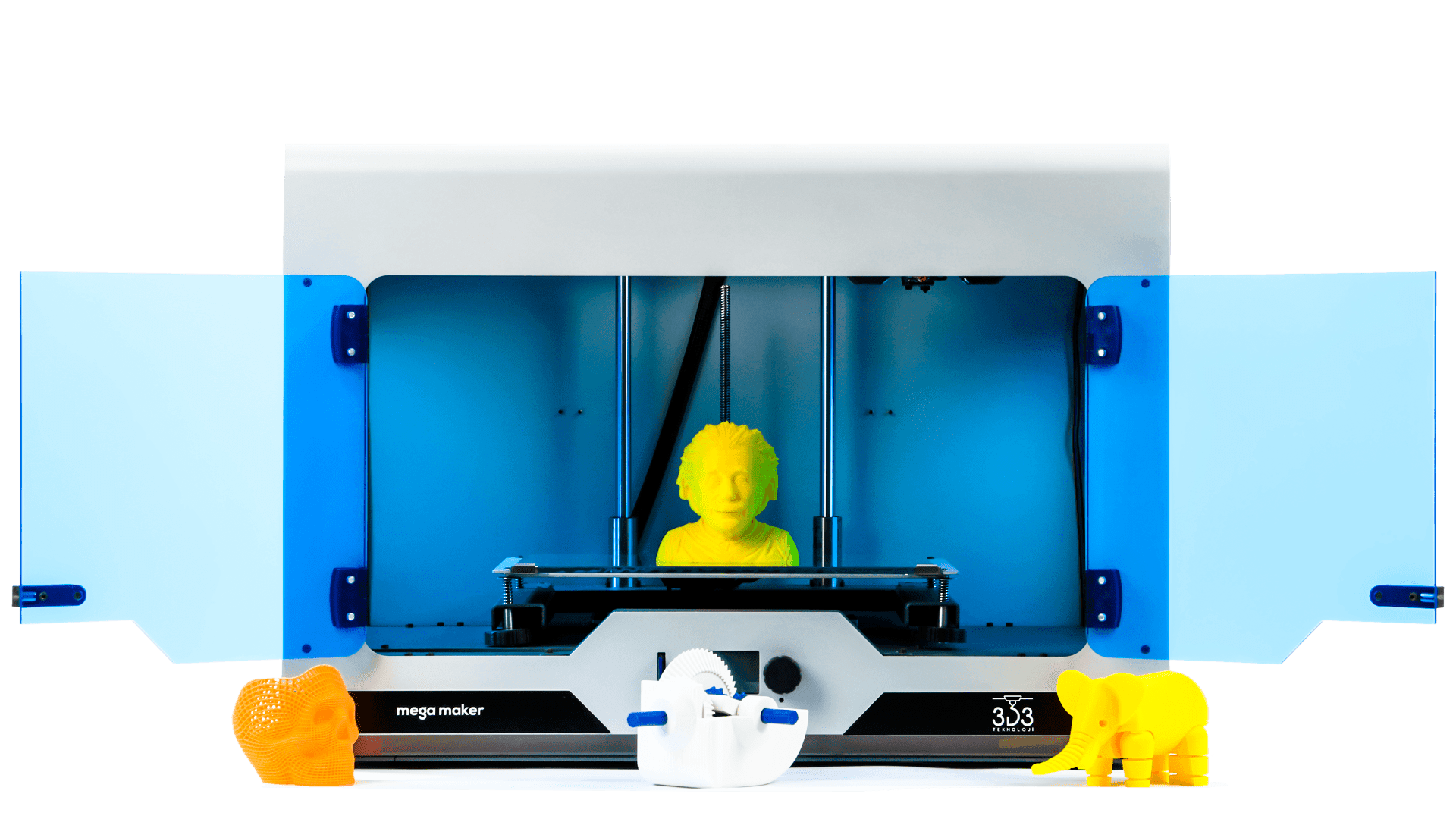 3d3 teknoloji'nin yerli üretim 3d yazıcı çözümü olan megamaker 3d printer 5