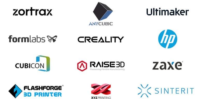 3D3 Teknoloji tarafından satılan 3D Yazıcı markaları.